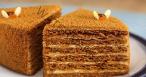 Деликатен блат за медена торта! Ето как да го приготвите!