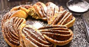 Венец от тесто с канела Незабравимо сладко изкушение!