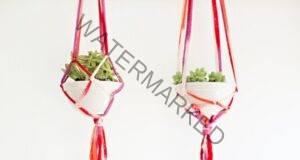 Висящи саксии за цветя: Направете си ги сами за не повече от 30 минути!