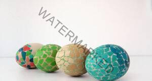 Направете яйцата за Великден под формата на мозайка!