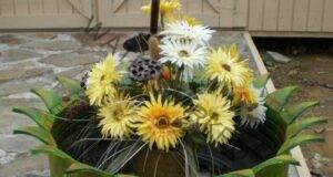 Нарежете старите гуми и ги превърнете в красива саксия за градината!