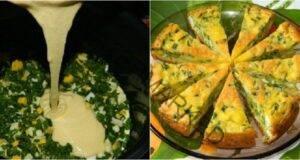Бърз тарт с яйца и лук: всеки път се получава несравним!
