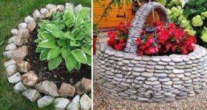 Цветни лехи с камъни: подбор на супер идеи за градината