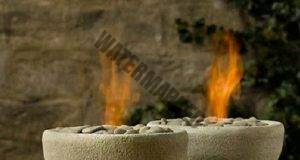 Мини камина от цимент: Красота, която да си направите сами!