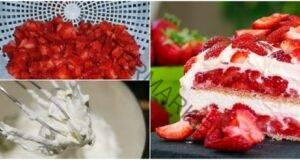Торта от ягоди и сметана: Освежаващо лятно лакомство!