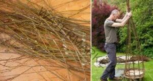 Най-доброто решение за градината ви: Плет от върбови клони!