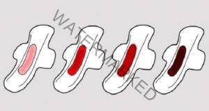 Наблюдавайте цвета на кръвта по време на менструация