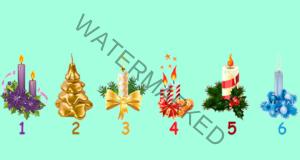 Изберете празнична свещ и узнайте своето предсказание!