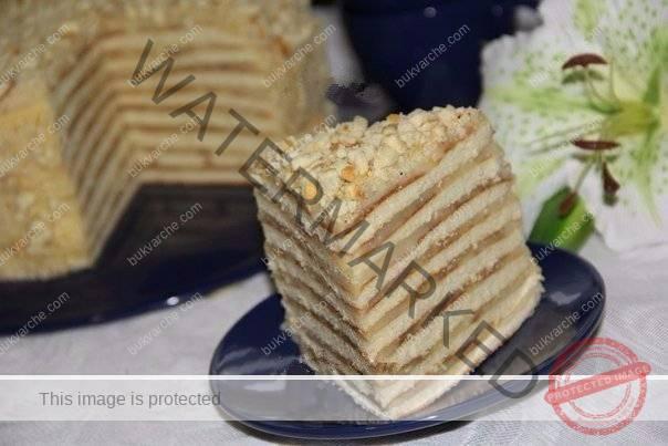 Торта с кондензирано мляко на тиган. Супер лесна рецепта!