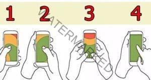 Начинът, по който държите телефона си, определя вашия характер!