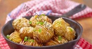 Печени картофи на резени, приготвени на тиган