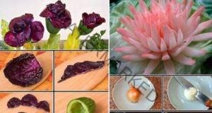 9 варианта на декорация от зеленчуци за празничната трапеза