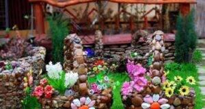 Съберете малко камъни от реката и декорирайте градината