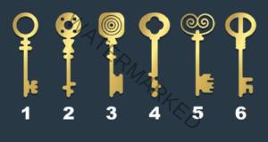 Имате стар сандък и трябва да го отворите. Кой ключ бихте избрали?