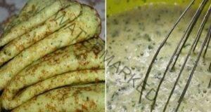 Палачинки от тиквички със сметана - тънки, леки и вкусни