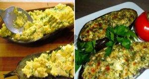 Здравословно ястие: Пълнени патладжани със сирене и извара
