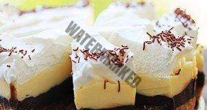 Шоколадова киндер торта: Четири слоя, без печене