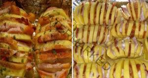 Картофи - акордеон. Много вкусно, бързо и лесно ястие