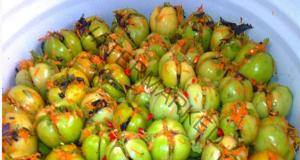 Невероятно вкусни: Пълнени, кисели зелени домати