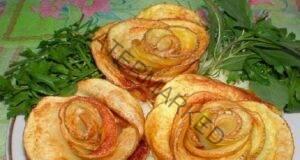 Лесни, вкусни и красиви розички от картофи и бекон