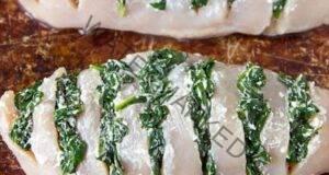 Вкусно: Пилешко ветрило със спанак и моцарела