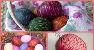 Интересен начин за боядисване на яйца: Лесно и красиво