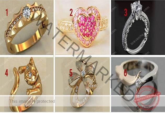 Изберете един пръстен и узнайте тайна черта от вашия характер!