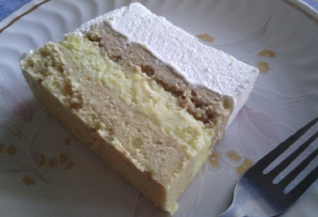 Лесна шоколадова торта с грис и пудинг без печене