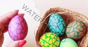 Мозайка - интересна идея за декорация на великденските яйца