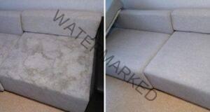 Почистете меката мебел с помощта на минерална вода