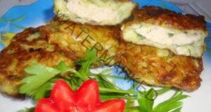 Кнедли от пресни тиквички с плънка от пилешко месо
