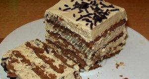 Вкусна торта с нескафе - лесна, бърза и без печене
