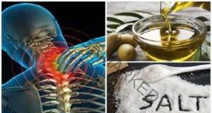 Лечение на остеохондроза с помощта на малко сол и зехтин
