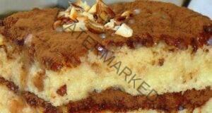 Домашна бисквитена торта с кондензирано мляко