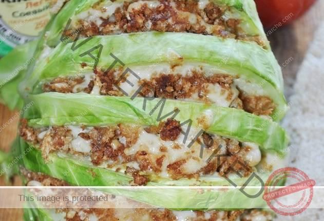 Интересна рецепта за пълнено зеле със соев сос