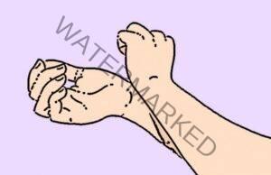 При световътреж или замаяност притиснете тези 3 точки на ръцете си