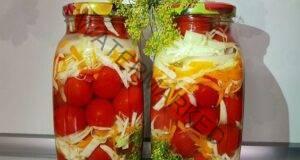 Заготовка за зимата с домати и зеле - любима рецепта