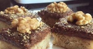 Орехов сладкиш с шоколадов крем - просто се топи в устата