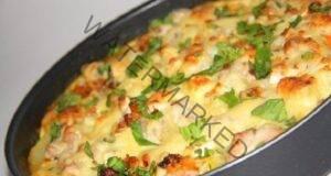 Картофена запеканка с пилешко и сирене по френски
