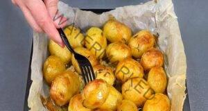 Картофи със златиста коричка на фурна - меки и невероятно ароматни