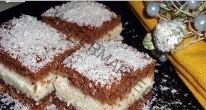 Кокосов сладкиш с пълнеж - сочен и много вкусен