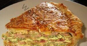 Пай от бутер тесто с шунка - отлична идея за обяд