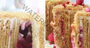 Торта с вертикални блатове и карамелен крем - наслада за небцето
