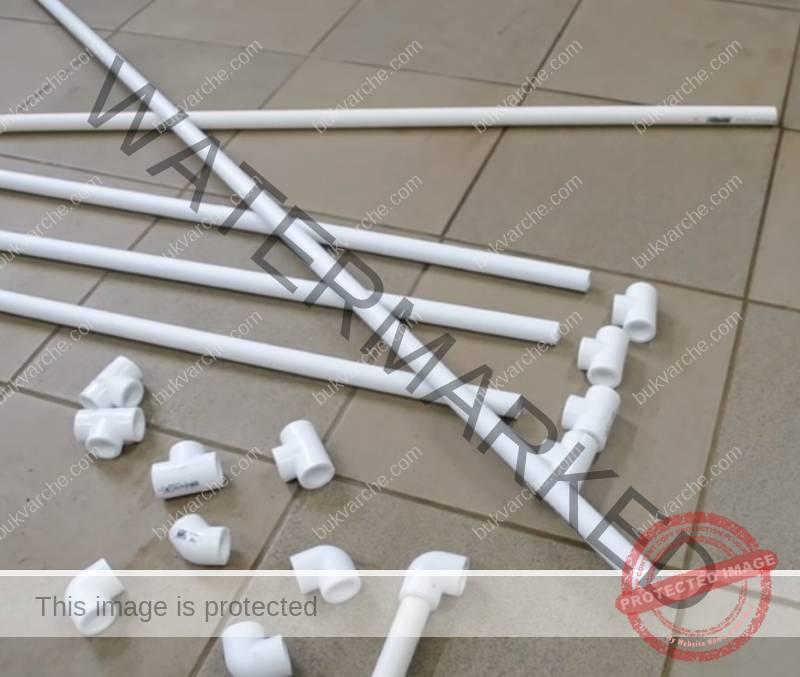 Практичен сушилник от пластмасови тръби - направете си го сами!
