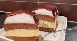 Креместа торта с шоколадова глазура - топи се в устата