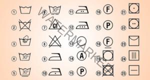 Знаци върху етикетите на дрехите и тяхното значение