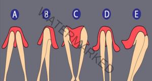 Позата на краката говори много за характера на жената