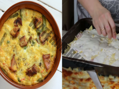 Рецепта за запеканка с пилешко филе, лук и сирене