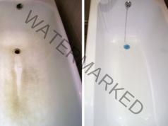 Жълти и упорити петна във ваната - лесно решение