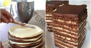 Домашна торта с яйчен крем - десерт с неустоим вкус